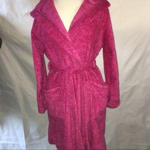 Ultra Beauty soft fluffy pink Bath Robe S/M